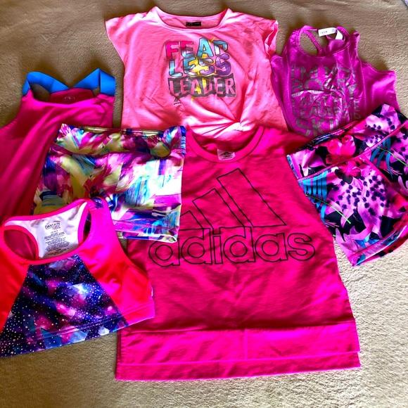 7 piece girl bundle sport training clothes 10/12